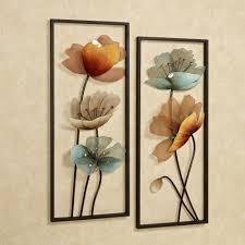 decorations 2 brown tuscany bloom wall art panels set metal wall