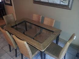 chair rattan and wicker dining room furniture sets tables table
