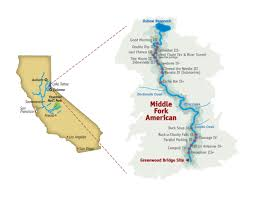 South America River Map by Middle South Fork American River 2 Day River Rafting Trip