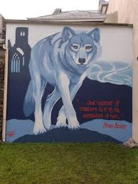Wolf Mural by This Is Friz Art By Friz