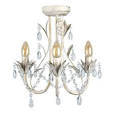 White Shabby Chic Chandelier by Shabby Chic Chandelier Amazon Co Uk