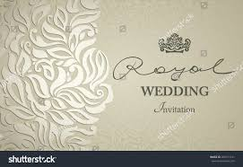 Card Invitation Vintage Background Greeting Card Invitation Lace Stock Vector