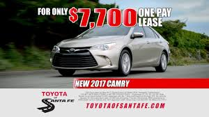 dealer toyota 15 second one pay car lease from toyota of santa fe new mexico