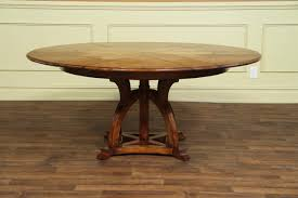 Craftsman Style Dining Room Furniture Solid Walnut Round Arts And Crafts Expandable Dining Room Table