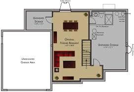 One Level House Plans With Basement Basement Floor Plans Rental House And Basement Ideas
