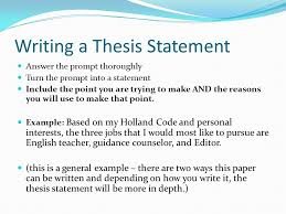Thesis statement ielts