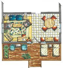 Interior Design Symbols For Floor Plans by Floor Plan Rendering Drawing Hand