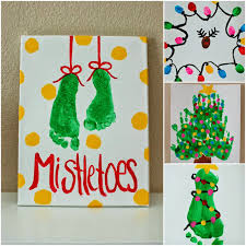kids christmas projects foot prints hand prints and finger