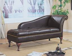 furniture luxurious leather chaise lounge chair for relaxing room