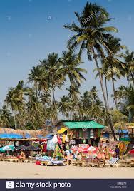 india goa big vagator beach russian women tourists on