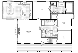 the rosewood ranch style modular home floor plan