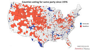 Map Of Virginia Counties And Cities by How The Red And Blue Map Evolved Over The Past Century America
