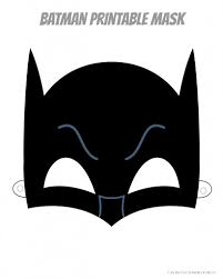 Halloween Masks Printables Coloring Download Batman Mask Coloring Page Batman Mask Coloring
