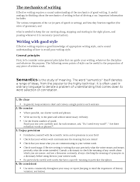 business communication the mechanics of writing docsity