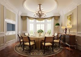 french classic dining room interior design with round table room