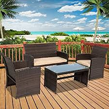 Best Price For Patio Furniture by Amazon Com Best Choice Products 4 Piece Cushioned Patio