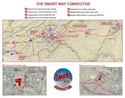 Virginia Tech Map Connector Smart Way Bus