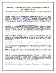 Strategic management accounting program offers range of post graduate options
