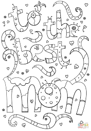 to the best mom doodle coloring page free printable coloring pages