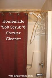 homemade shower cleaner homemade soft scrub