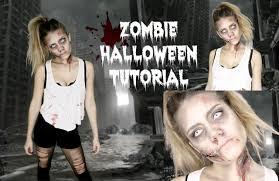 halloween zombie makeup ideas easy zombie halloween tutorial last minute idea youtube