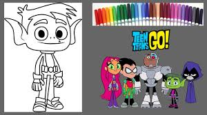 teen titans coloring book how to color beast boy speed