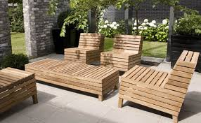 Wood Patio Furniture Sets - modern furniture modern wood outdoor furniture expansive light
