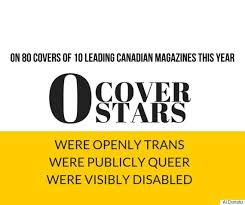 A Dearth Of Diversity On Canadian Fashion Magazine Covers In      Huffington Post Canada From the cover stars I could search  none publicly identified as gay  lesbian  bisexual or queer