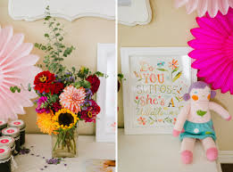 1st Birthday Decoration Ideas At Home Violet U0027s Wildflower Themed First Birthday Party The Little