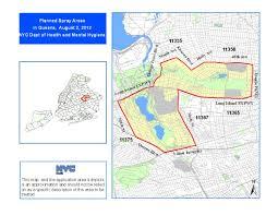 Zip Code Map Brooklyn by West Nile Virus Spray 2012