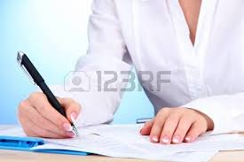 Writing On Paper Stock Photos Images  Royalty Free Writing On        RF com writing paper  Closeup of businesswoman hands  writing on paper Stock Photo