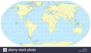 Map Of Europe And Africa by Very High Detailed Map Of The World In Robinson Projection With