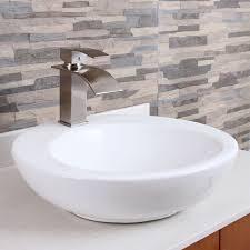 elite modern bathroom sink waterfall faucet brushed nickel 8803bn