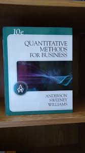 quantitative methods for business 10th edition anderson