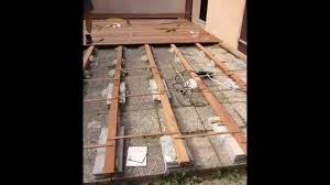 terasse en palette bricolage pose d une terrasse en bois youtube