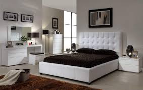 Bedroom Dark Vanity Set Ikea With Elegant Tufted Bed And Leather - White tufted leather bedroom set