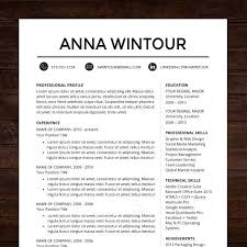 images about Resume Building on Pinterest CV Template   The  quot Wintour quot  Resume Design   Instant Download   Word Format