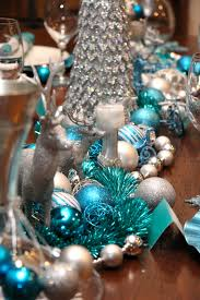 Christmas Tree Decorations Blue And Silver Christmas Table Chic Blue And Silver Design U2014 Chic Party Ideas