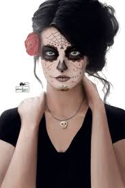 dead makeup halloween santa muerte by zhidkov deviantart com on deviantart day of the