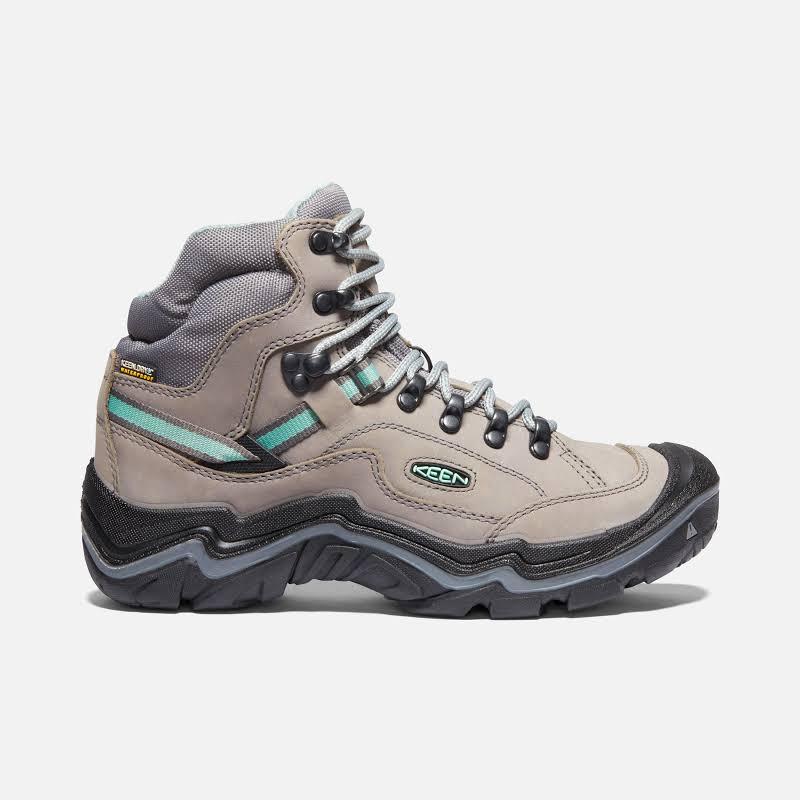 KEEN Durand II Mid Waterproof Hiking Boots Grey Flannel/Steel Grey Medium 6.5 1020776-001-6.5