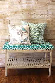 upholstered bench and no sew pillows 2 bees in a pod