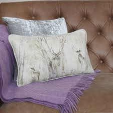 c130054 sherwood country enchanted forest linen cushion