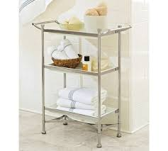 Pottery Barn Bathroom Storage by Grant Floor Storage Polished Nickel Finish Pottery Barn 199