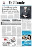 Newspaper Le Monde (France). Newspapers in France. Saturdays.