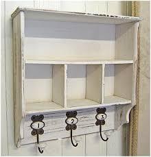 white shabby chic wall shelf unit for shabby chic bookshelf ideas