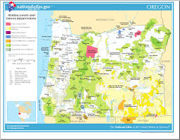 Oregon Map by Map Of Oregon Map Federal Lands And Indian Reservations