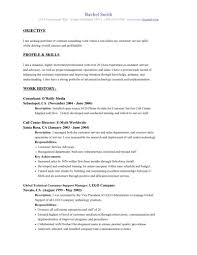 Example Resume  What Do You Write In The Objective Of A Resume
