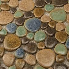 wholesale porcelain tile mosaic pebble design shower tiles kitchen enlarged photos of the porcelain mosaic tile