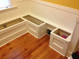 Plans To Build A Storage Bench by Build Breakfast Nook With Storage Bench Full Of Elegance