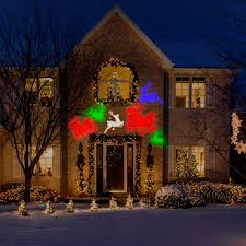 Christmas Yard Decoration Images Gemmy Lightshow Projection Whirl A Motion Christmas Lights